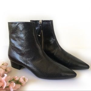 NWOB Zara Embossed Ankle Boots